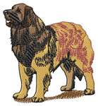 Leonberger embroidery design
